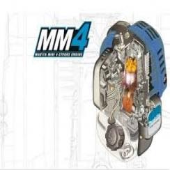 Desmalezadora 25,4 cc. - 0,77 kw./ 1,1HP - Mango en